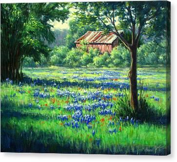 Glen Rose Bluebonnets Canvas Print by Vickie Fears