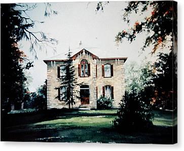 Glenmorris Farmhouse Canvas Print by Hanne Lore Koehler