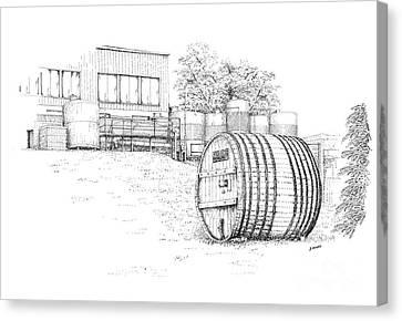 Glenora Winery Canvas Print by Steve Knapp