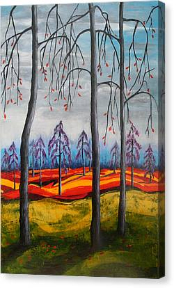 Glimpse Of Autumn Canvas Print by Kathy Peltomaa Lewis