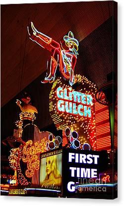 Glitter Gulch Canvas Print by John Malone