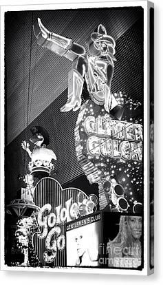 Glitter Gulch Canvas Print by John Rizzuto