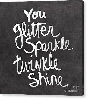 Glitter Sparkle Twinkle Canvas Print by Linda Woods