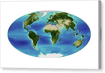 Global Chlorophyll Levels Canvas Print by Nasa Earth Observatory/ocean Color Web/geoeye
