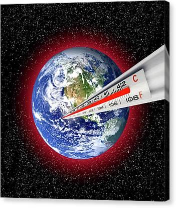 Global Warming Concept Canvas Print by Victor De Schwanberg