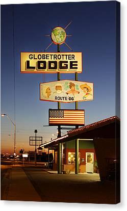 Globetrotter Lodge - Holbrook Canvas Print by Mike McGlothlen