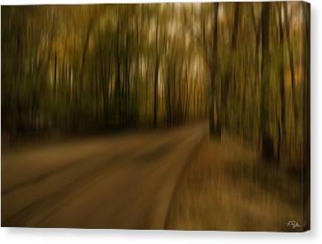 Gloomy Autumn Canvas Print by Lourry Legarde
