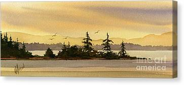 Glow Of Dawn Canvas Print by James Williamson