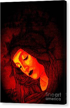 Glowing Botticelli Madonna Canvas Print by Genevieve Esson