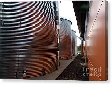 Glowing Silos Canvas Print by Juan Romagosa