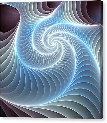 Glowing Spiral Canvas Print by Anastasiya Malakhova