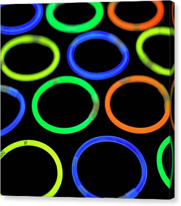 Glowstick Bangles Canvas Print by Science Photo Library