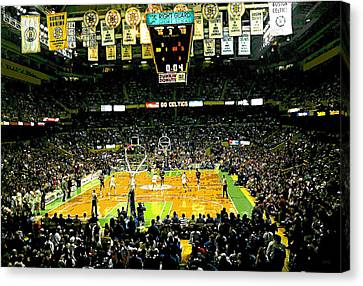 Go Celtics Canvas Print by David Schneider