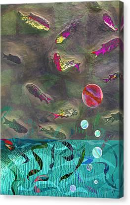 Go Fish Canvas Print by Maria Jesus Hernandez