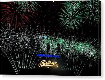 Go Indians Canvas Print by Frozen in Time Fine Art Photography