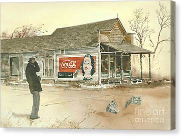 Go Refreshed Canvas Print by Monte Toon