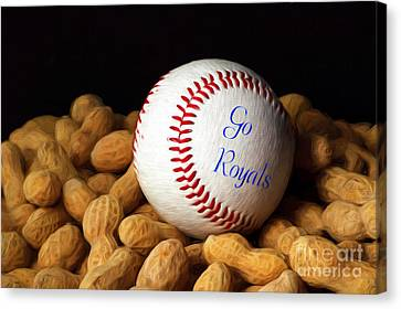 Go Royals Canvas Print by Andee Design