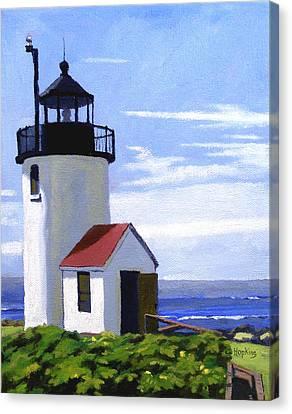Goat Island Lighthouse Maine Canvas Print by Christine Hopkins