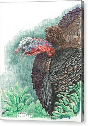 Gobbler Canvas Print by Kenneth Stock