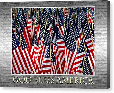 God Bless America Canvas Print by Carolyn Marshall