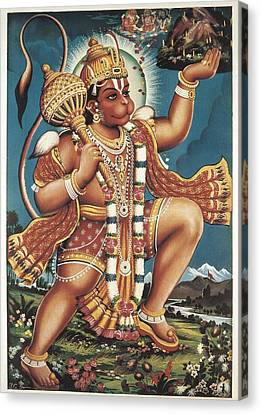 God Hanuman. Hindu Art. � Aisaeverett Canvas Print by Everett