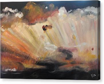 God Is Truly Mighty Canvas Print by PainterArtist FIN