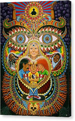 God Of Healing Canvas Print by Chris Dyer