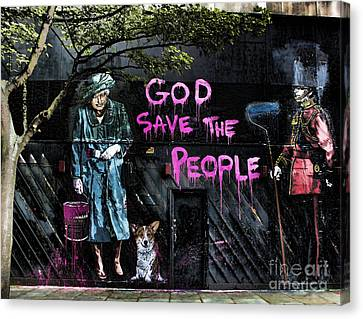 God Save The Queen Canvas Print by Jasna Buncic