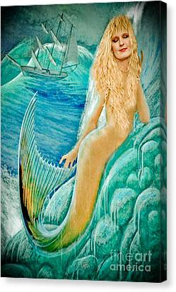 Goddess Atargatis 1000 Bc Canvas Print by Gary Keesler