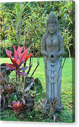 Goddess Bhudevi Mother Earth Canvas Print by Karon Melillo DeVega