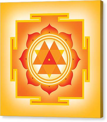 Goddess Durga Yantra Canvas Print by Soulscapes - Healing Art