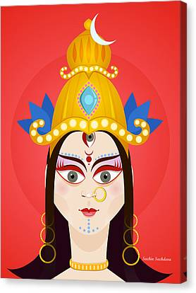 Goddess Maa Durga Canvas Print by Sachin Sachdeva