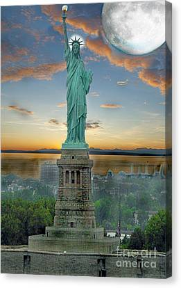 Goddess Of Freedom Canvas Print by Gary Keesler