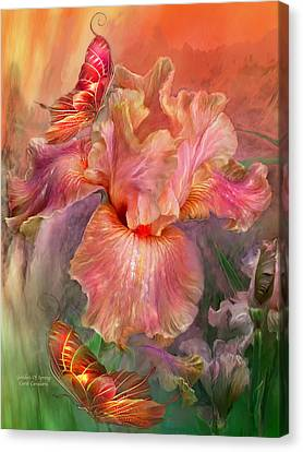 Goddess Of Spring Canvas Print by Carol Cavalaris