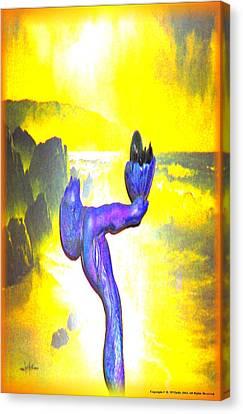 Goddess Of The Sea Canvas Print by Debra MChelle