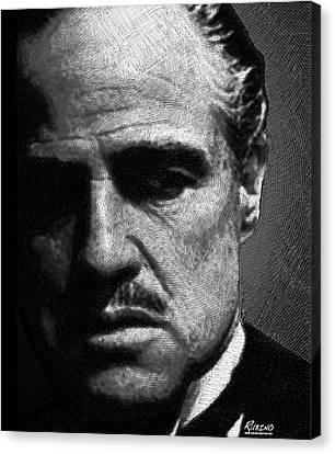Godfather Marlon Brando Canvas Print by Tony Rubino