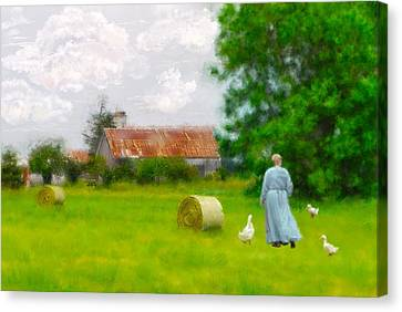God's Little Acre Canvas Print by Mary Timman