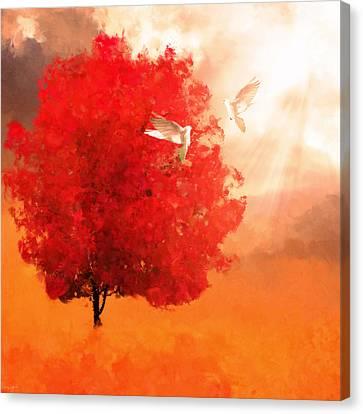 God's Love Canvas Print by Lourry Legarde