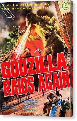 Godzilla Raids Again, Aka Gojira No Canvas Print by Everett