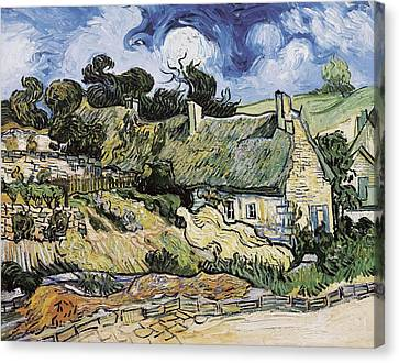 Gogh, Vincent Van 1853-1890. Thatched Canvas Print by Everett