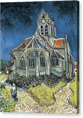 Gogh, Vincent Van 1853-1890. The Church Canvas Print by Everett