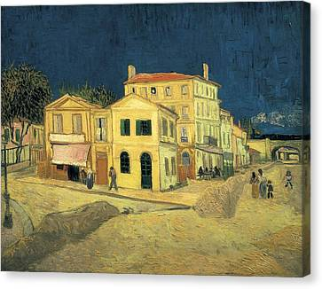 Gogh, Vincent Van 1853-1890. The Yellow Canvas Print by Everett