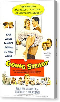 Going Steady, Us Poster, Top Center Canvas Print by Everett