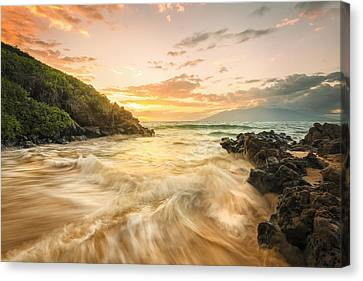 Gold And Blue Canvas Print by Hawaii  Fine Art Photography