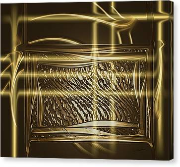 Gold Chrome Abstract Canvas Print by Kae Cheatham