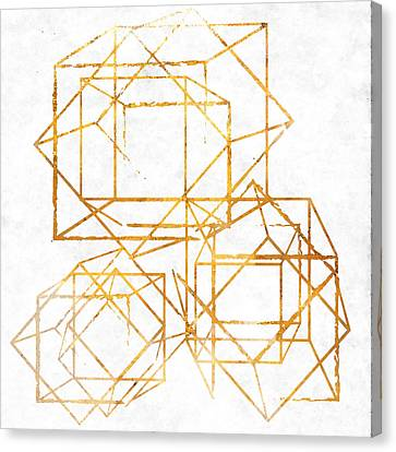 Gold Cubed I Canvas Print by South Social Studio