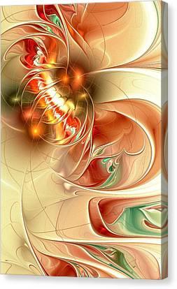Gold Fish Canvas Print by Anastasiya Malakhova