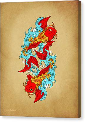 Gold Fish Canvas Print by Mark Ashkenazi