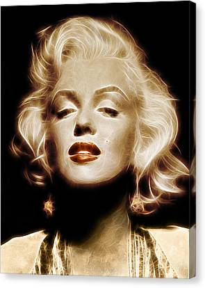 Gold Marilyn Monroe Canvas Print by - BaluX -