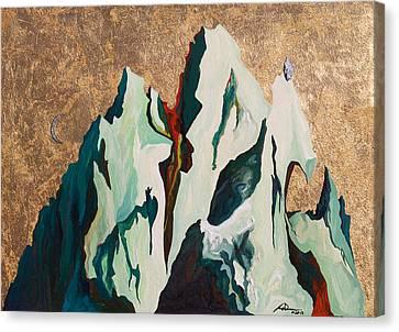 Gold Mountain Canvas Print by Joseph Demaree